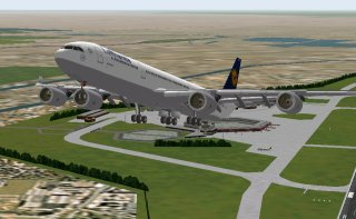 A340-500 Lufthansa Preview