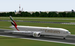 Boeing 777 Emirates von Project Opensky